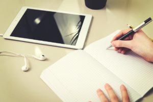 homework, the student, tablet